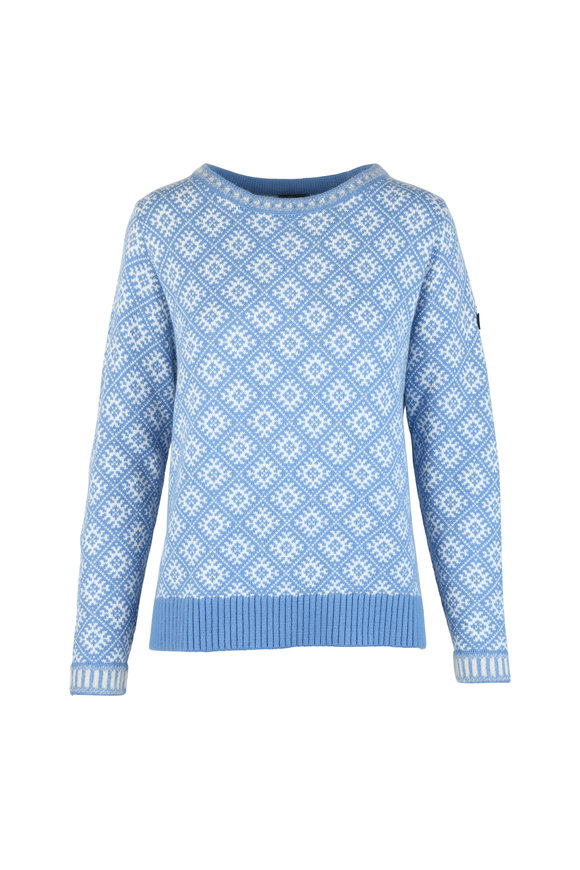 Bogner Almara Blue & White Intarsia Sweater