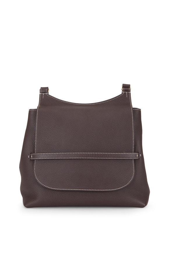The Row Sideby Espresso Equestrain Leather Crossbody