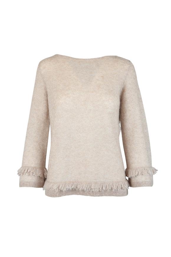 D.Exterior Almond Wool & Alpaca Fringe Sweater