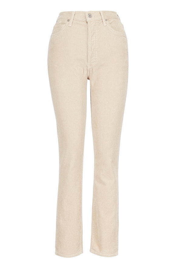 Citizens of Humanity Olivia Beige Straight Leg Corduroy Pant