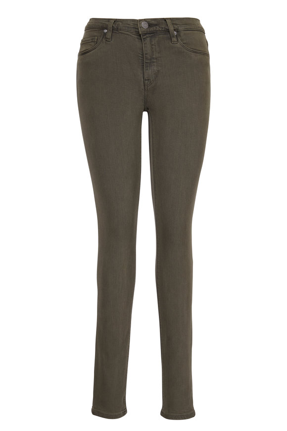 Hudson Clothing Nico Forest Green Midrise Skinny Jean