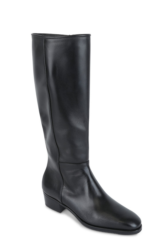 Gravati Black Leather Tall Boot, 35mm