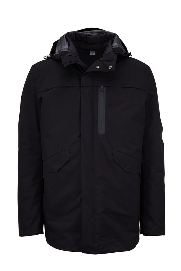 Herno Black 3-In-1 Parka