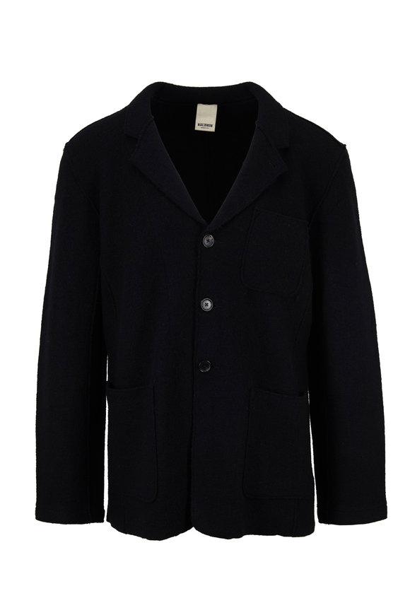 Baldwin Jude Black Boiled Wool Blazer Jacket