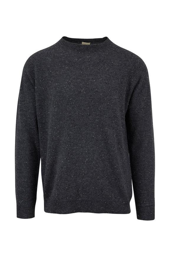 Baldwin Graham Gray Donegal Crewneck Sweater