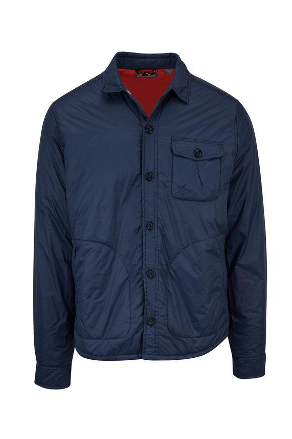 Michael Bastian Slate Blue Insulated Shirt Jacket