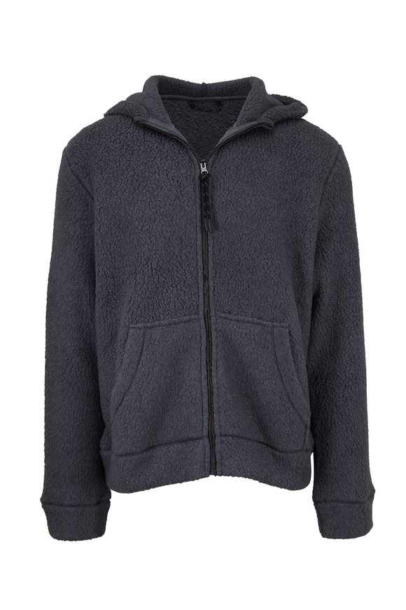 Michael Bastian Gray Polartec Fleece Jacket With Hood