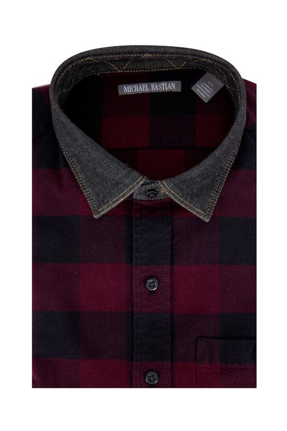 Michael Bastian Red Buffalo Plaid Oxford Sport Shirt