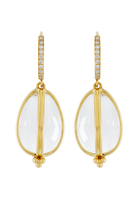 Temple St. Clair Classic Amulet Diamond-Wire Earrings