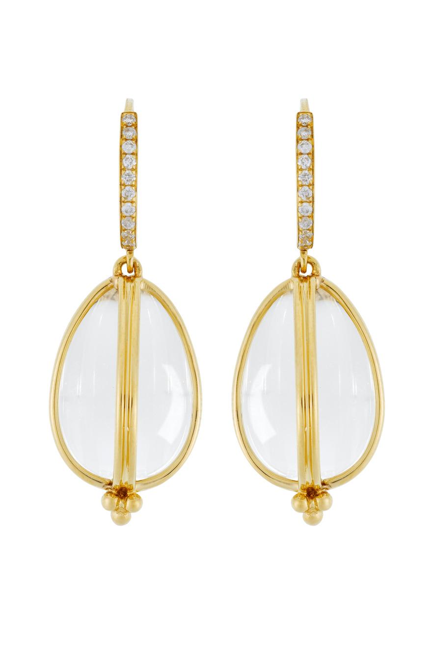 Classic Amulet Diamond-Wire Earrings