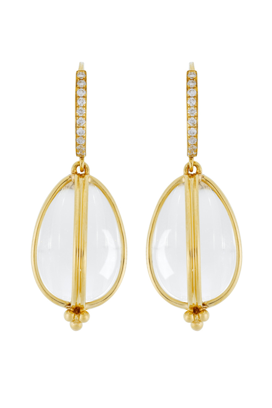 Classic Amulet Diamond-Wire Earrings