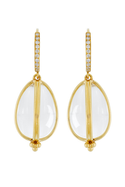 Temple St. Clair - Classic Amulet Diamond-Wire Earrings