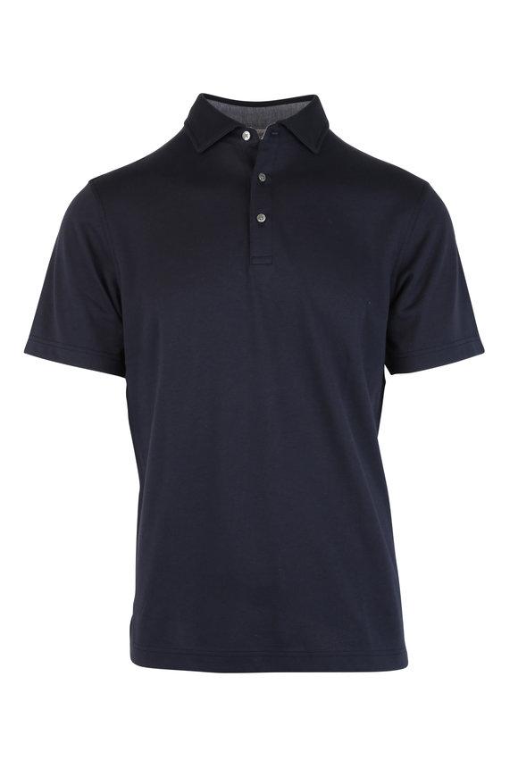 Vastrm Navy Blue Tech Fabric Polo