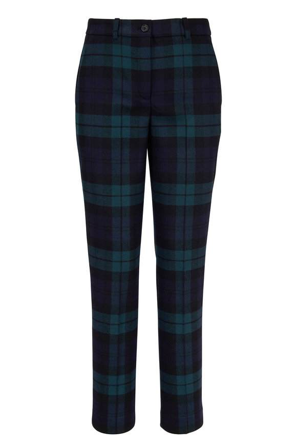 Michael Kors Collection Maritime Tartan Skinny Pant