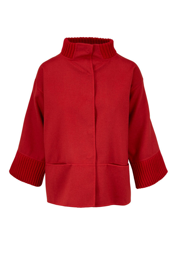 Rani Arabella Red Double-Faced Cashmere Jacket
