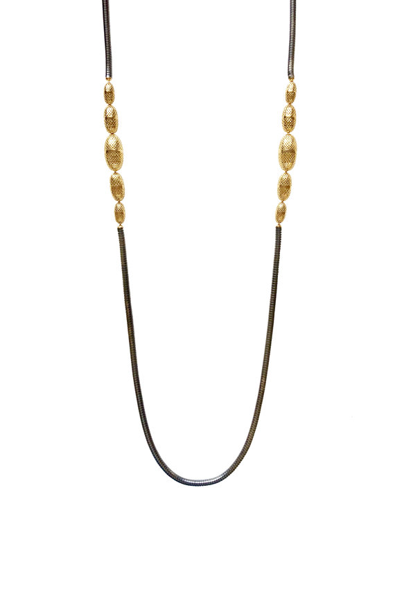 Ray Griffiths 18K Yellow Gold & Silver Chain Necklace
