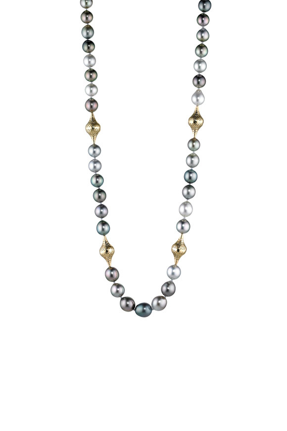 Ray Griffiths 18K Yellow Gold Tahitian Pearl Necklace