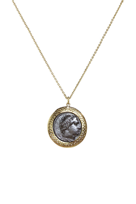 Ray Griffiths 18K Yellow Gold Vintage Coin Necklace