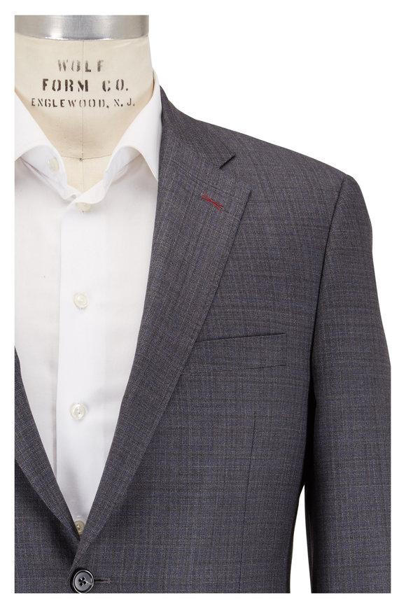 Samuelsohn Bennet Charcoal Gray Wool Tonal Check Suit