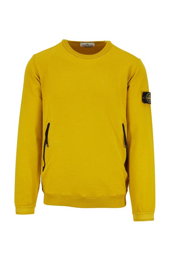 Stone Island Yellow Crewneck Sweatshirt