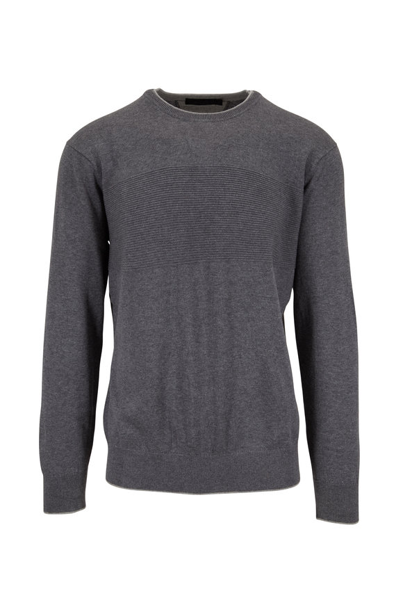 Raffi  Charcoal Gray Cotton Pullover