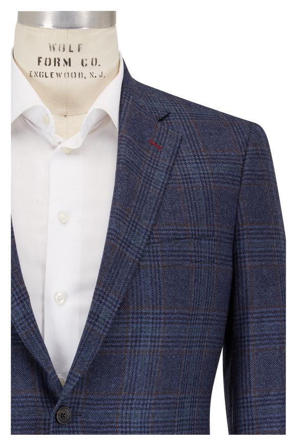 Samuelsohn Bennet Blue Plaid Wool & Cashmere Sportcoat