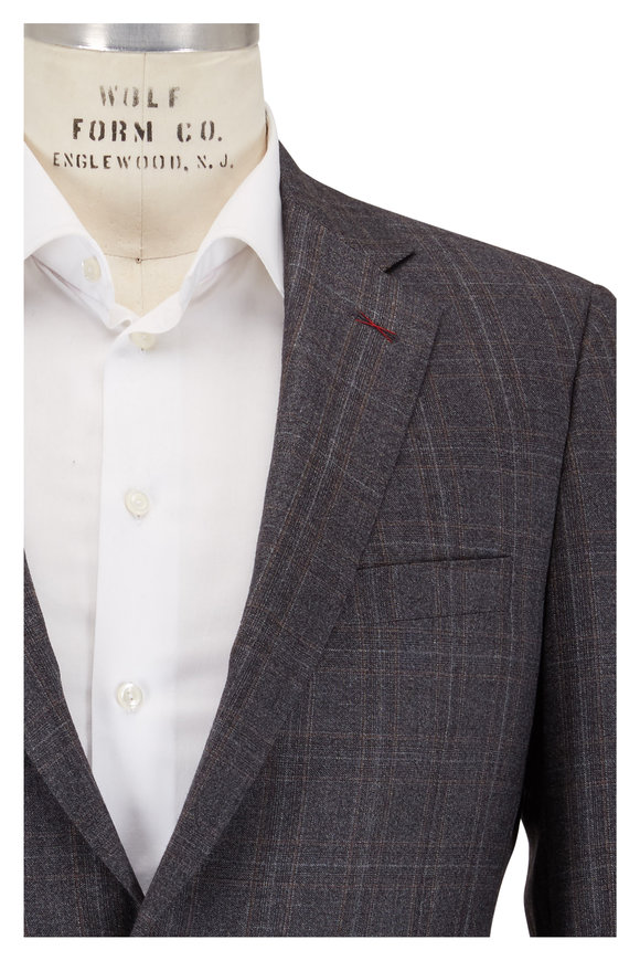 Samuelsohn Bennet Gray Plaid Wool Suit