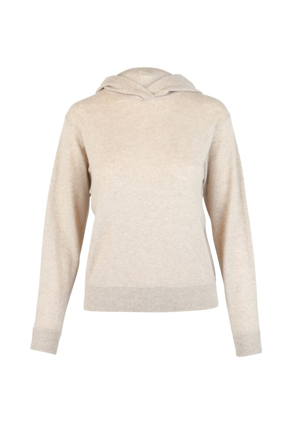 Vince Tan Cashmere Overlap Hoodie