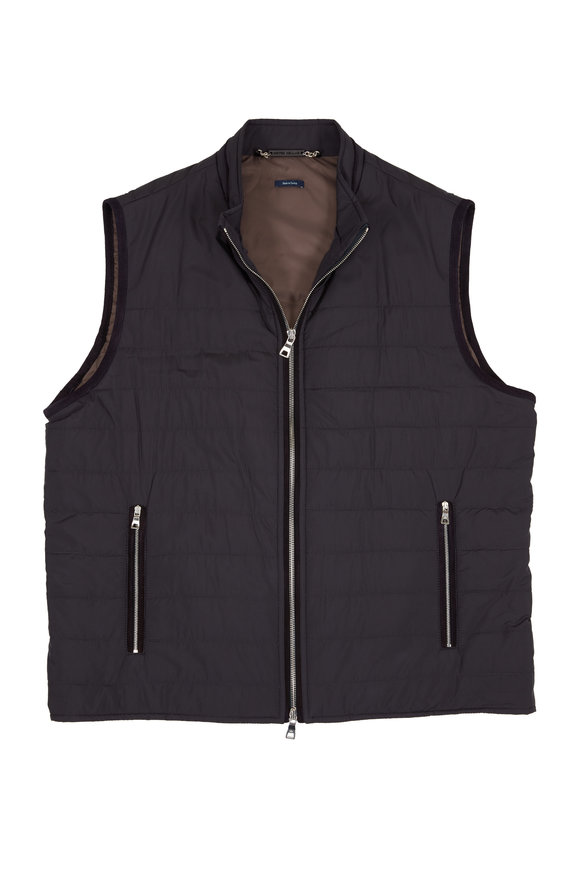 Peter Millar Navy Blue Zip Front All-Weather Vest