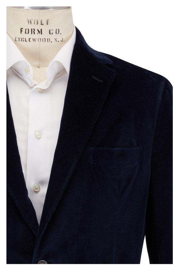 Maurizio Baldassari Cobalt Blue Velvet Sportcoat