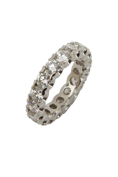 Oscar Heyman - Platinum White Diamond Guard Ring