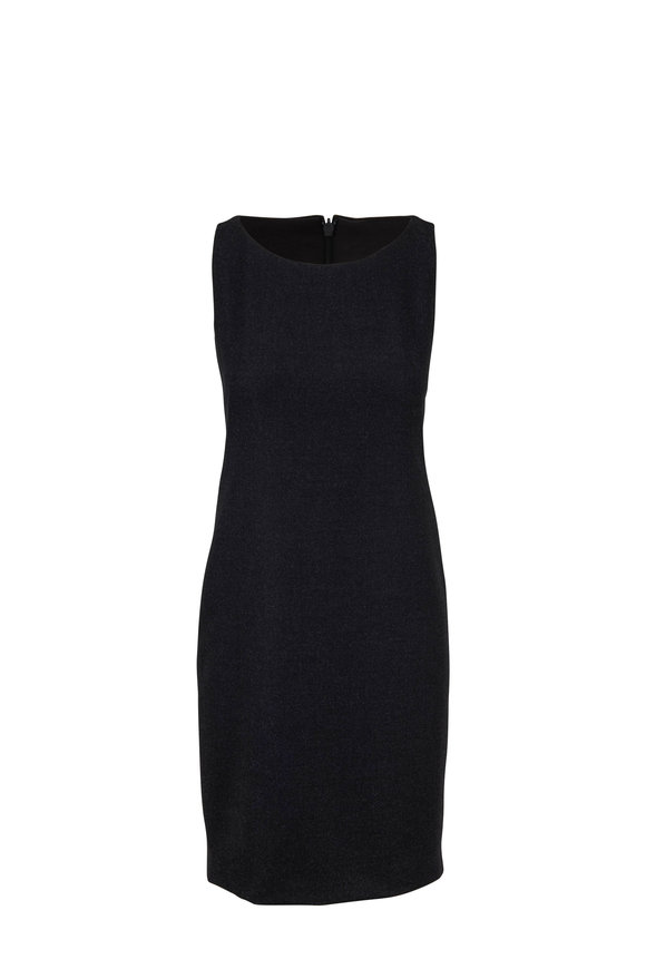 Akris Charcoal Gray Sleeveless Sheath Dress