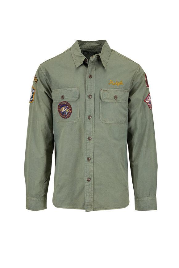 Polo Ralph Lauren Woodrow Olive Green Utility Shirt