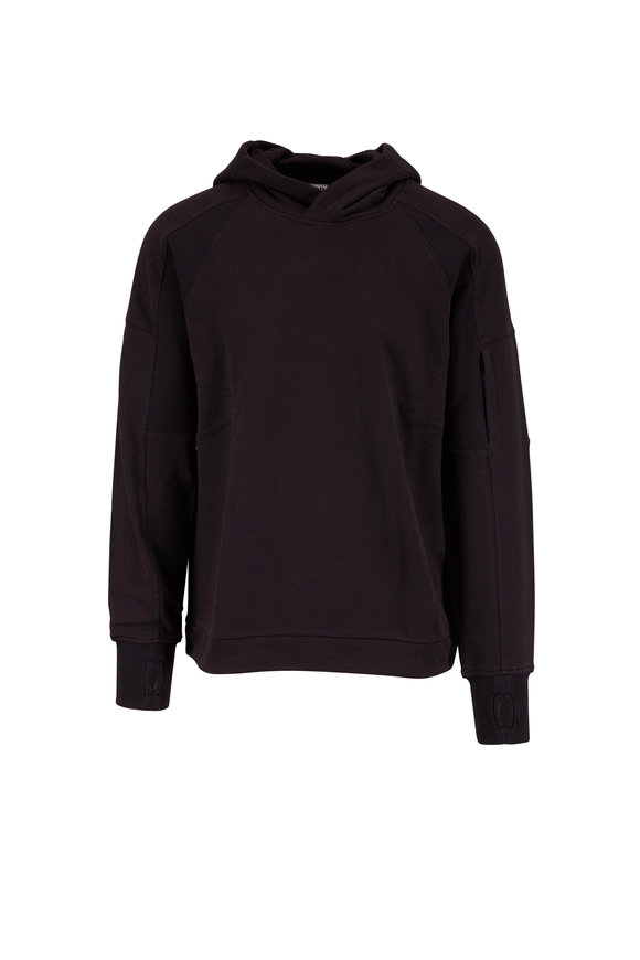 CP Company Black Cotton Drawstring Hoodie