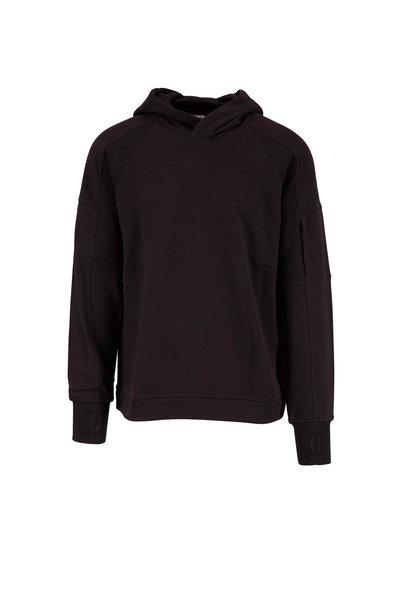 CP Company - Black Cotton Drawstring Hoodie