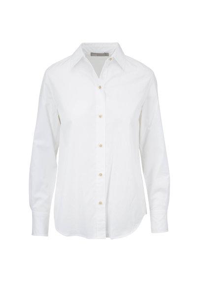Vince - Classic Optic White Cotton Blouse