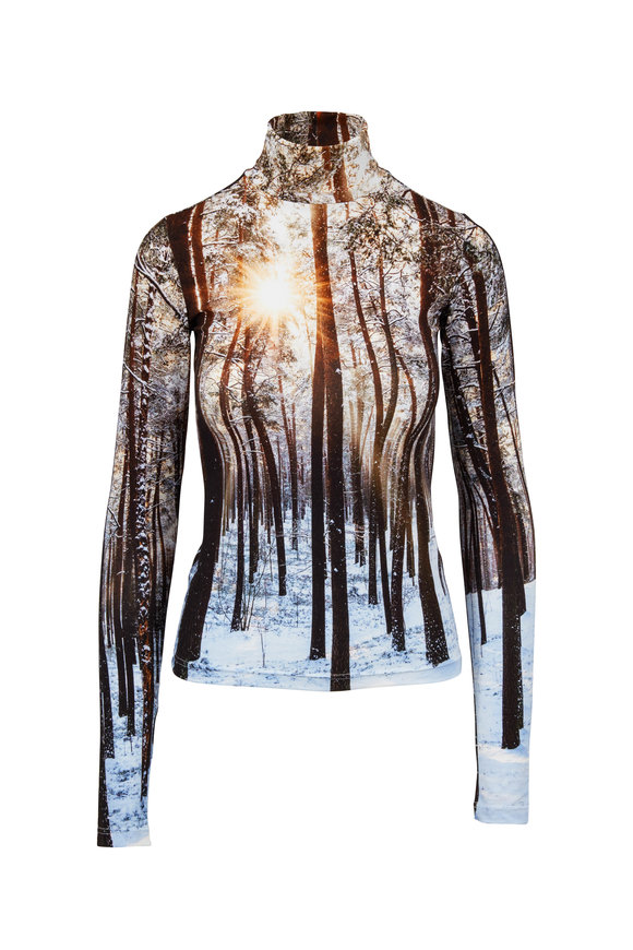 R13 Winter Woods Printed Turtleneck