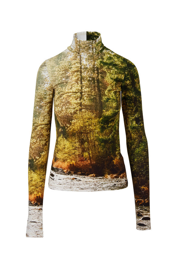 R13 Forest River Printed Turtleneck