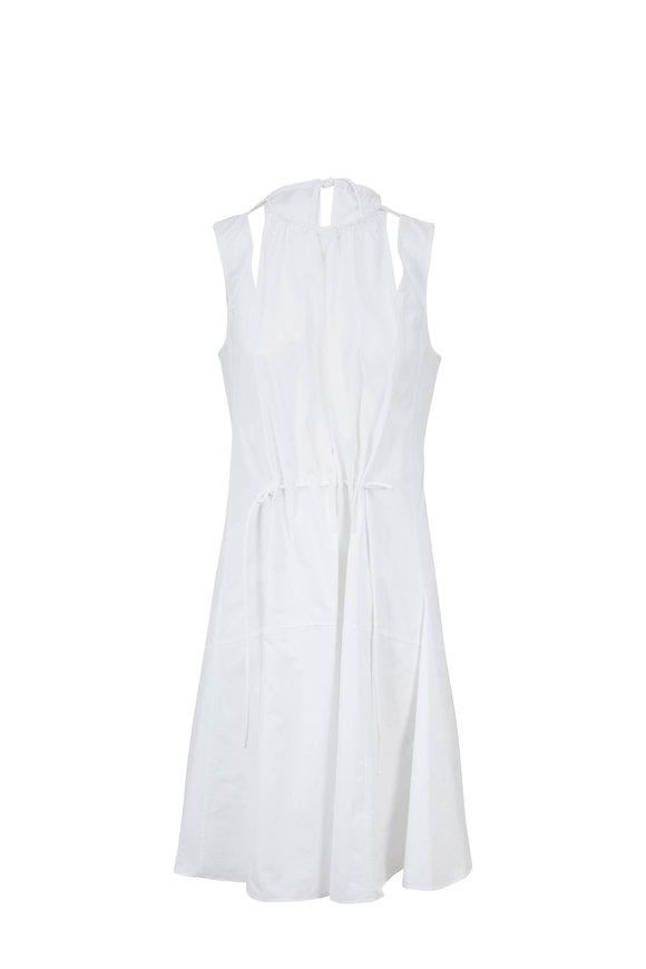 Derek Lam White Cotton Cut-Out Halter Dress
