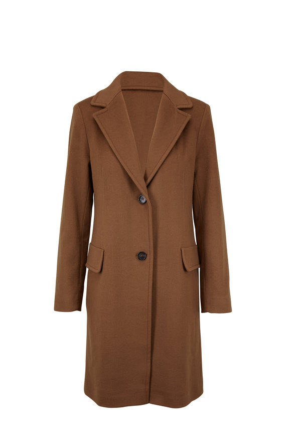 Fleurette Reefer Vicuna Wool Coat