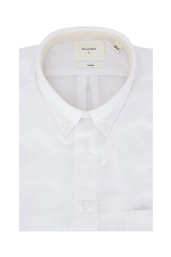 Billy Reid White Brushed Cotton Standard Fit Sport Shirt