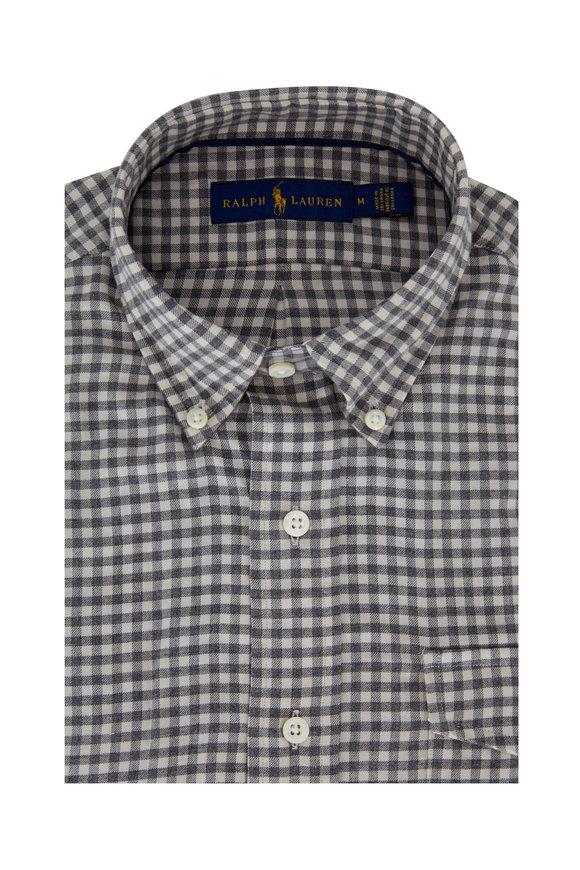 Polo Ralph Lauren Gray & Cream Check Cotton Sport Shirt