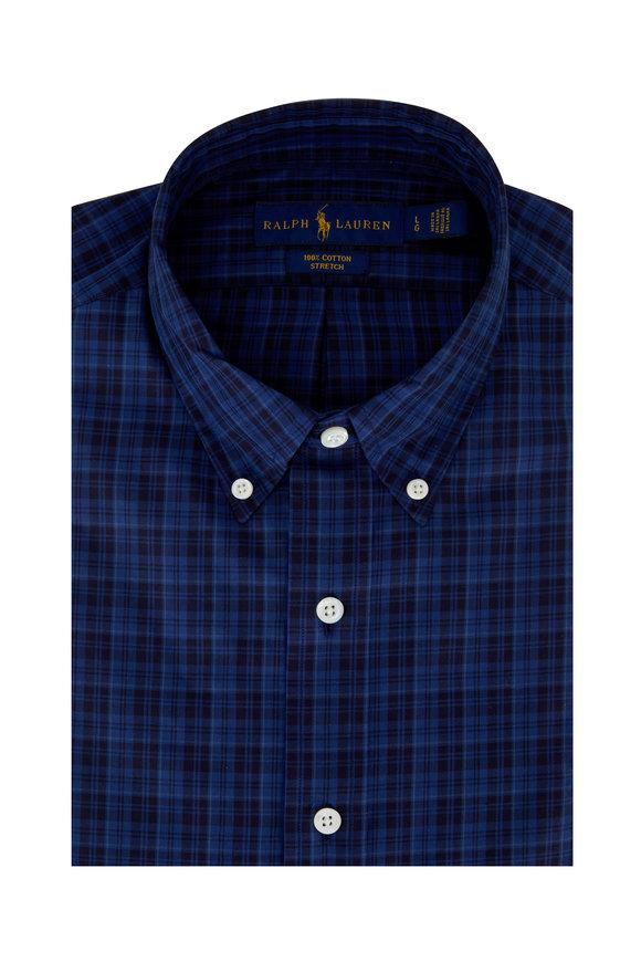 Polo Ralph Lauren Blue & Black Plaid Sport Shirt