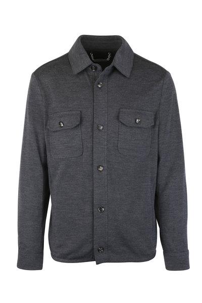 Peter Millar - Charcoal Gray Wool Blend Overshirt
