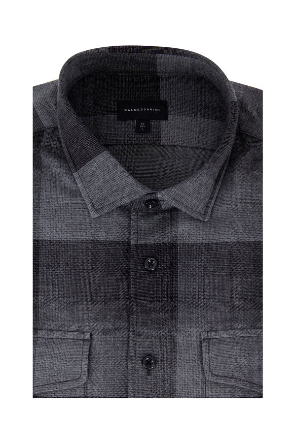 Baldessarini Gray Ombrè Tailored Fit Sport Shirt