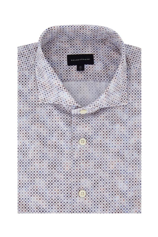 Multi Geometric Tailored Fit Sport Shirt
