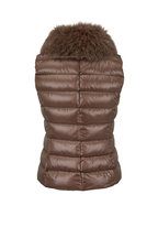 Herno - Bronze Fur Collar Puffer Vest