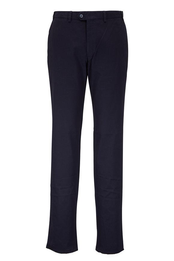 Hiltl Navy Tonal Printed Pant