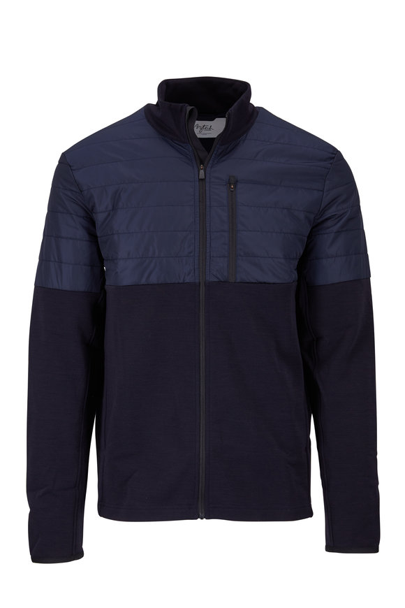 Aztech Mountain Navy Fleece Zip Jacket