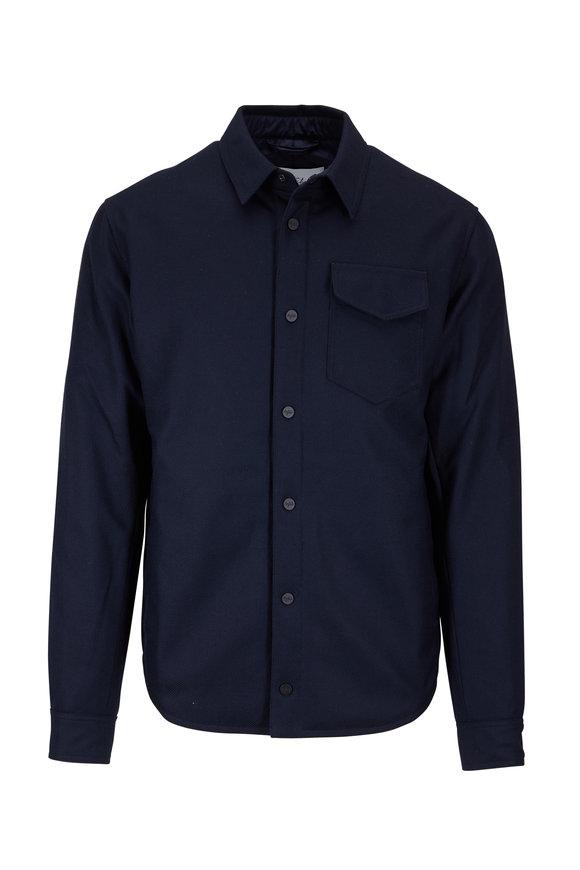 Aztech Mountain Navy Wool Shirt Jacket